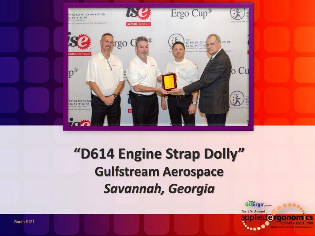 AEC 2018 Gulfstream Engine Strap Dolly proactive ergonomics